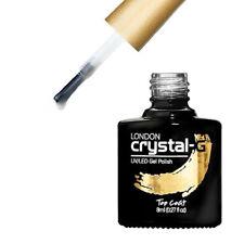 Crystal-G Nails Gloss TOP COAT Soak Off UV LED Varnish Gel Nail Polish UK SELLER