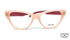 Prada PR23S UEW-1O1 PINK Eyeglasses New Authentic 52