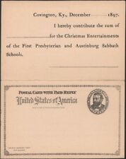 U.S. 1892. Paid Reply Post Card Uy1, Mint