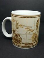 Hawaii coffee mug cup Hawaiian Islands MAP cup Island Heritage sepia tones 10 oz