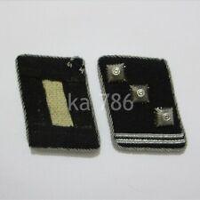 WW2 German Officer Obersturmführer Collar Tabs Kragenspiegel Repro Badge