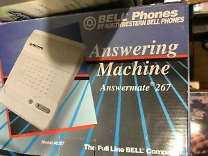 NOS New Vintage Bell Phones Northwester Bell Answering Machine Answermate 267