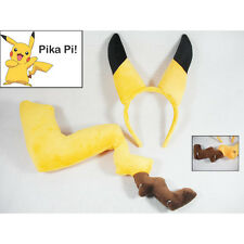 Prop Anime Pokemon Pikachu's Ear Tail Soft Plush Toy Kid Cosplay Christmas Gifts