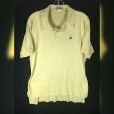 LL Bean Sewn Duck Boot Logo Yellow Polo Vintage Made USA Double L Shirts Mens L