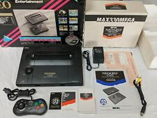 NEO GEO SNK AES USA Console Complete in Box + Controller/Joystick/Memory MINTY!