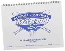 Martin Sports 16 Player, 25 Game Baseball / Softball Game Scorekeepers Scorebook