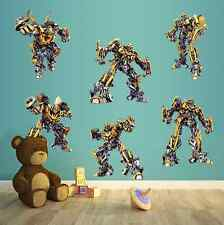 Transformers Pegatinas De Pared Calcomanías Extraíble Arte para Decoración de casa niños UK