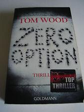 TOM WOOD /ZERO OPTION !!! THRILLER / TASCHENBUCH !!!