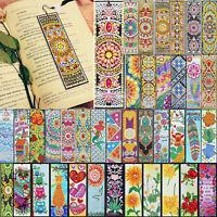 5D Diamond Painting Bookmark Leather Tassel Book Marks Embroidery DIY Craft Kits