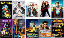 80's Party Posters Weird Science Top Gun Pac Man Back to FutureVanilla Ice