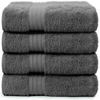 4-Piece Bath Towels Set for Bathroom | 100% Soft Cotton Turkish Towels - Gray