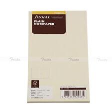 Filofax Personal Size Cotton Cream Plain Notepaper Refill Insert 132453 Gift B