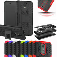 For Telstra LG K9 / K8 (2018) Heavy Duty Tyre Tough Stand Phone Armor Case Cover