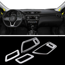 4PC For 2017 2018 Nissan Rogue Chrome Dashboard air condition vent cover trim