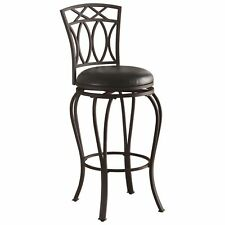 Black Metal Bar Stool with Black Upholstered Seat by Coaster 122060
