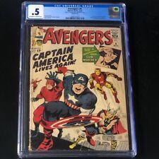 Avengers #4 (Marvel 1964) CGC 0.5 💥 1st SA App of Captain America! 💥 Comic