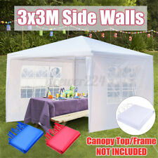 3x3m Outdoor Gazebo Wedding Marquee Party Event Tent Canopy Camping 3 Side Walls