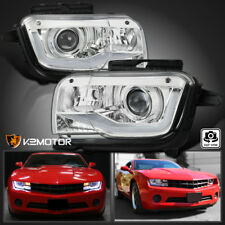 2010-2013 Chevy Camaro LED Tube DRL Light Bar Projector Headlights Left+Right