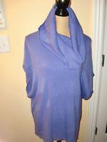 Women's~NOUVEAUX~Cowl Neck Purple Sleeveless 100%Acrylic Sweater Dress Size M