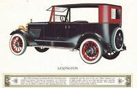 """Vintage George Morales Lexington Motor Car Automobile Print 4""""x6"""""""