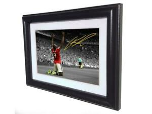 Signed Romelu Lukaku Manchester United Photo Picture frame Autographed Gift Sm