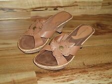 NINE & Company - Leather Wedge Heel Sandals - Sz. 9M - Worn Once