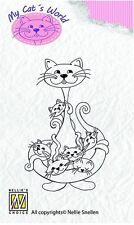 My Cat's World Clear Stamp CW003 Katzen Pärchen Love - NEU