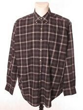 RALPH LAUREN GOLF BLAKE Men's Grey Check Button Down Casual Shirt XL Extra Large