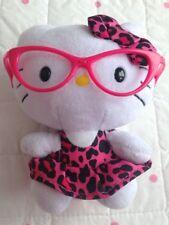 """TY HELLO KITTY Pink Y Negro Vestido Estampado Animal Juguete Suave Felpa de arco Gafas 6"""""""
