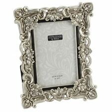 "Shabby Chic Antique Silver Vintage Ornate Picture Photo Frame 4 X 6 "" Fr47746"