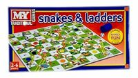 1 x Snakes and Ladders Board Xmas Children Game Traditional Games For Kids