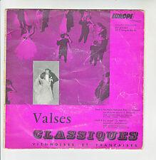"""VALSES STRAUSS Vinyle 45T EP 7"""" LE BEAU DANUBE BLEU -AIMER BOIRE CHANTER -SAPHIR"""
