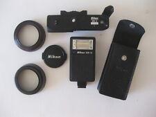 Nikon SB-E Speedlight MD-E Motor Drive Lens Shades HN-2 HN-3 (Lot of 4)