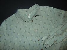TOMMY BAHAMA Button Front Shirt ~ Large ~ Long Sleeves ~ 100% Silk ~ Green