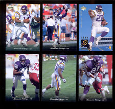 1995 UD Minnesota Vikings Set WARREN MOON CRIS CARTER JOHN RANDLE QADRY ISMAIL