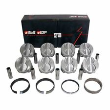 SPEED PRO Ford 289 302 Flat Top Hypereutectic Pistons+CAST Rings 9.0:1 STD
