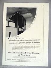 Marine Midland PRINT AD 1939 Building Materials Building New York World's Fair