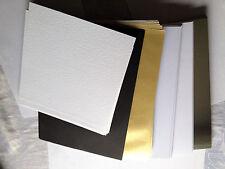 Joblot 120 Cards/Paper:Gold/Silver/Black/White-Bundle Clearout See Description