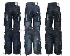 Crosshatch Cotton Denim Shorts for Men