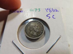 G73 Netherlands 1862 5 Cents