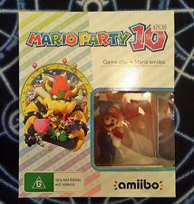 Limited Edition Mario Party 10 Wii U Game + Amiibo Bundle *BNIB* Genuine PAL