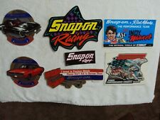 7 Pc. SNAP ON TOOLS Original TOOLBOX Decals / Stickers 1988 Rick Mears ETC.