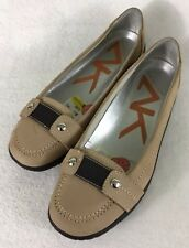 80ad424bc39 Anne Klein Sport Surfy from Nordstrom Women s Tan Leather Flats Driving  Shoes 7M