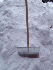 Schneeschieber Schneeschaufel Schneeräumer Schneeschippe Aluminium Holzstiel