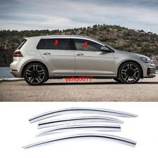 2015-19 For Volkswagen Golf MK7 Chrome Window Visor Vent Shades Sun Rain Guard*4