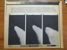 Vtg Wire Photo 1986 Challenger Rocket Shuttle Plume Of Flames