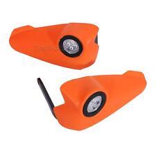 "7/8"" LED Light Vision Handguards Hand Guards Brush Bar Supermoto Motocross ATV"