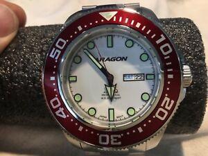 ARAGON  A054WHT Divemaster Super Luminova Automatic 50mm
