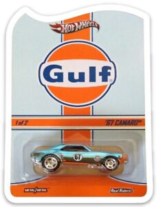 MAGNET Hot Wheels RLC Gulf Camaro Real Riders Custom MAGNET Fridge NO CAR