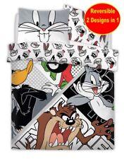 Looney Tunes Cartoons Double Polycoton Housse Couette Set Garçons Enfant Lit